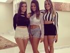 Filha de Romário posa com shortinho ao lado de amigas