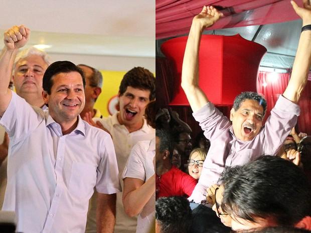 Geraldo Julio e João Paulo disputam Prefeitura do Recife no segundo turno (Foto: Aldo Carneiro e Marlon Costa/Pernambuco Press)