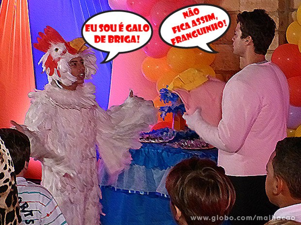 VISH! O Pilha tá bolado com o Fera! E essa fight vai dar treta, hein! (Foto: Malhação / Tv Globo)