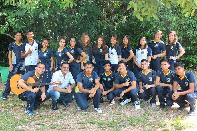 Alunos da E.E. Homero de Miranda Leão (Foto: Katiúscia Monteiro/ Rede Amazônica)