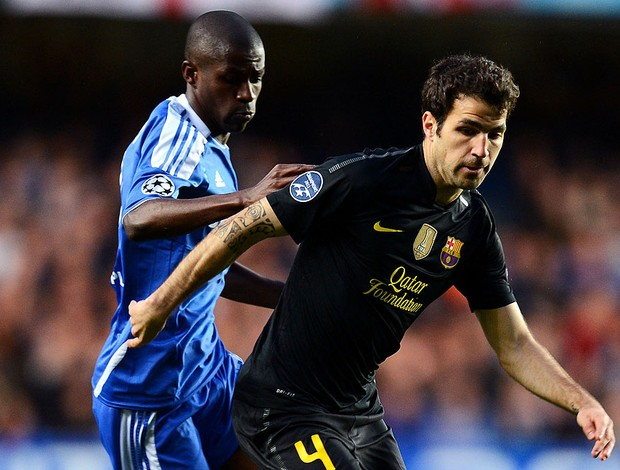 ramires fabregas chelsea x barcelona (Foto: Getty Images)