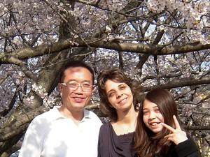 A família de Gabriela Nichimura, no Japão (Foto: Arquivo Pessoal / Silmara Nichimura)
