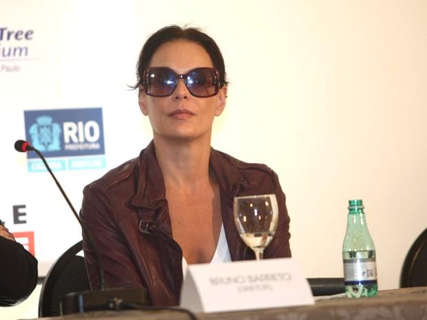 Carolina Ferraz, coletiva do filme Crô (Foto: Iwi Onodera/EGO)