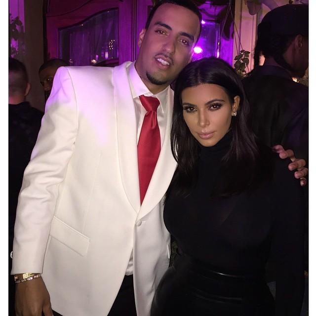 French Montana e Kim Kardashian (Foto: Reprodução/Instagram)