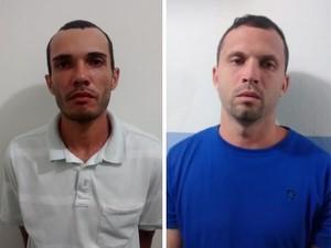 José Wagner (às esq.) e Francisco Lopes (à dir.) foram presos. (Foto: Divulgação/Polícia Civil)