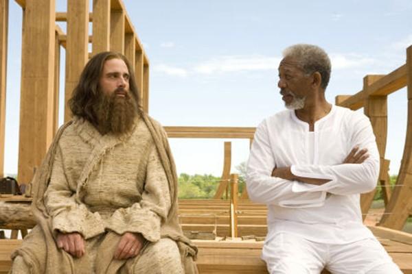 Steve Carell e Morgan Freeman em A Volta do Todo Poderoso (Foto: Divulgação)