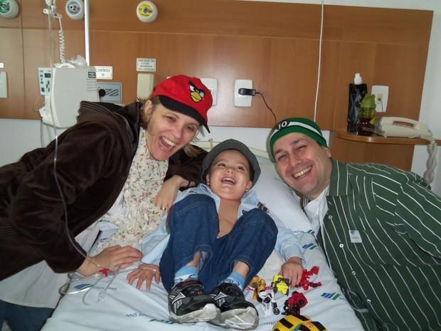 Paula, Paulinho e Octávio 2 (Foto: Paula Chagas/ Arquivo Pessoal)