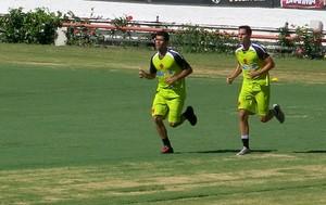 andré Rocha e Marlon vasco treino (Foto: Edgard Maciel de Sá)