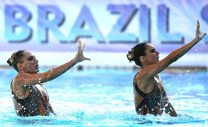 Luisa Borges Giovana Stephan nado sincronizado Brasil (Foto: Satiro Sodré)