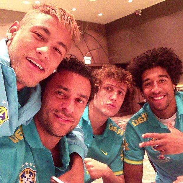 Neymar fred david luiz e dante Instagram (Foto: Reprodução / INstagram)