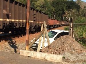 Dom Décio sofre acidente na linha de ferro, em Ibiraçu (Foto: Divulgação/ Diocese de Ibiraçu)