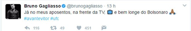 Mensagem postada no Twitter de Bruno Gagliasso (Foto: Reprodução/Twitter)