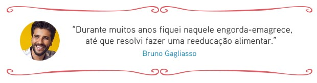 Cardápio das famosas - Bruno Gagliasso (Foto: EGO)