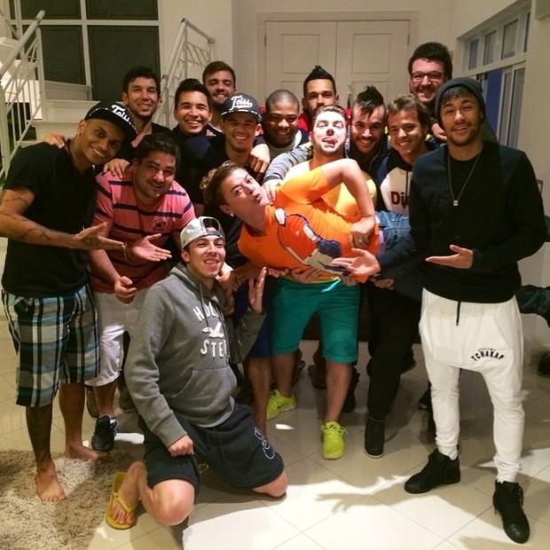 Neymar e David Brazil (Foto: Reprodução/ Instagram)