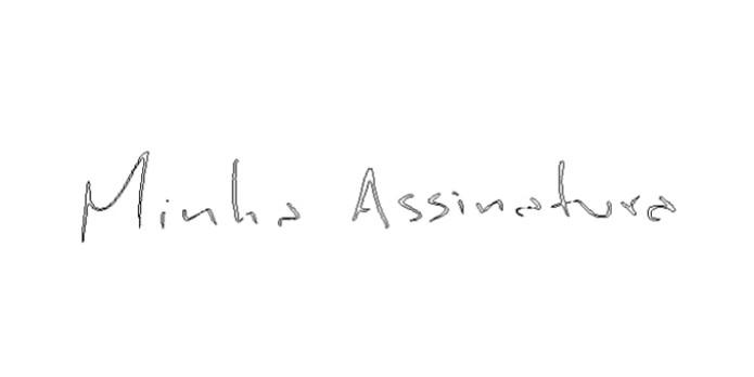 Aplicação do pincel no documento (Foto: Reprodução/André Sugai) (Foto: Aplicação do pincel no documento (Foto: Reprodução/André Sugai))