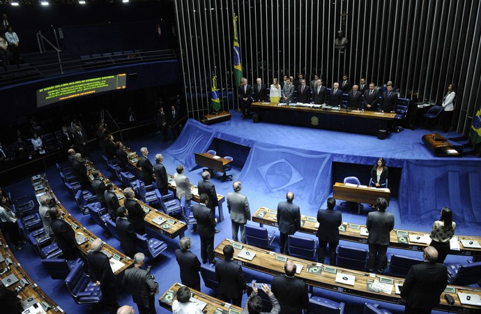 senado (Foto: Wikimedia/Senado Federal - Plenário do Congresso)