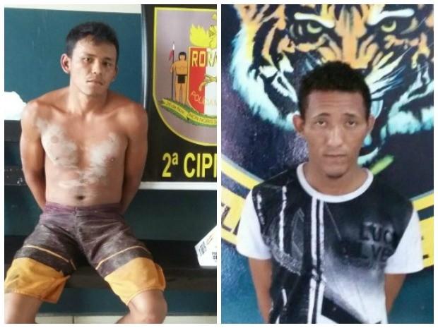 Abenildo Oliveira (à esquerda) foi capturado em Caracaraí; Darlan Martins (à direitta) foi capturado em Boa Vista (Foto: Dicap/Divulgação)
