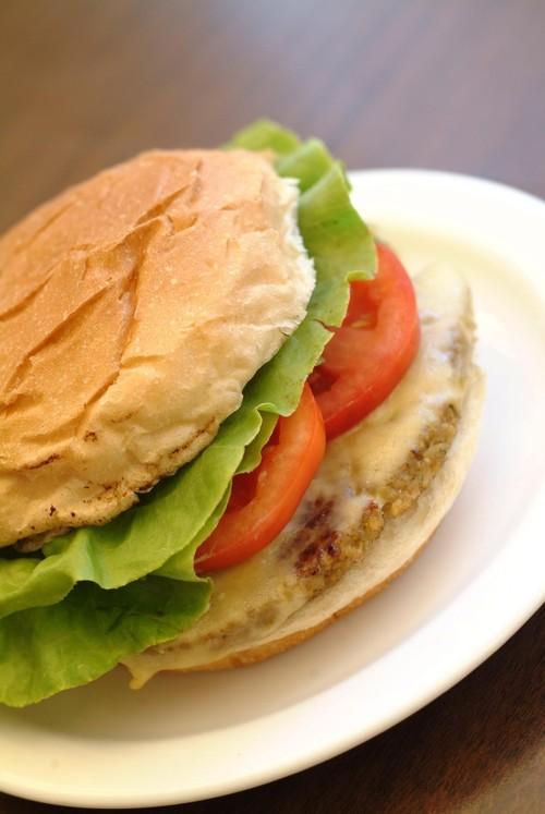 Hambúrguer de grão-de-bico - Restaurante Família Burger