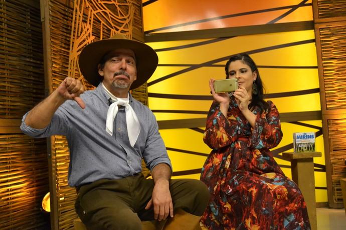 Shana Müller e Neto Fagundes no Galpão Crioulo  (Foto: Maicon Hinrichsen/RBS TV)
