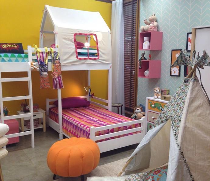 Além de divertidas, essas camas são ótimas para espaços compactos  (Foto: Monique Salgueiro/Gshow)