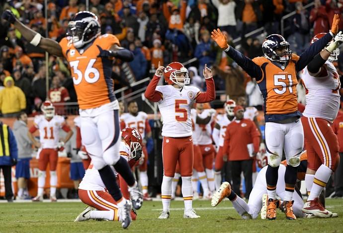 Cairo Santos ficou em êxtase após dar a vitória à sua equipe (Foto: Joe Amon/The Denver Post via Getty Images)