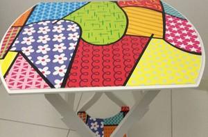 Aprenda a fazer uma mesa no estilo Romero Britto (Caldeirão do Huck / TV Globo)