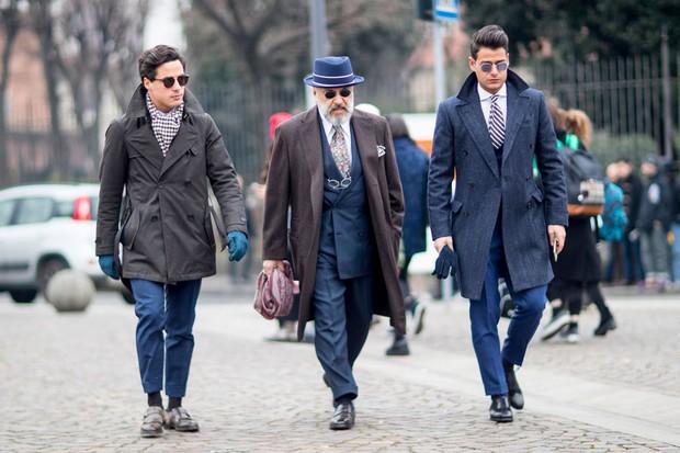 Street style: Pitti Uomo inverno 2017 (Foto: Imaxtree)