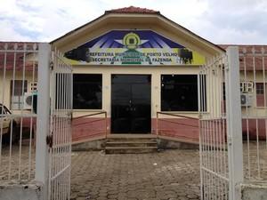 Secretaria Municipal de Fazenda, em Porto Velho (Foto: Suzi Rocha/G1)