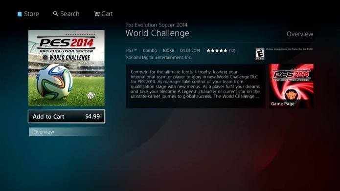 PES 2014: como comprar e instalar o DLC World Challenge (Foto: reprodução/Murilo Molina)