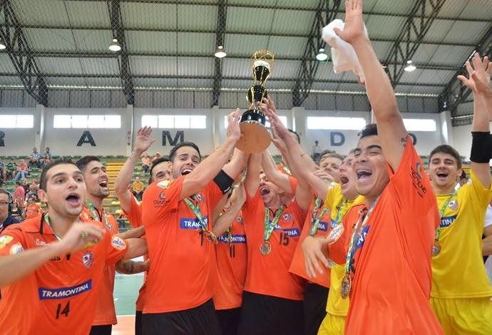 Carlos Barbosa campeão Copa Gramado de Futsal (Foto: Ulisses Castro/ACBF)