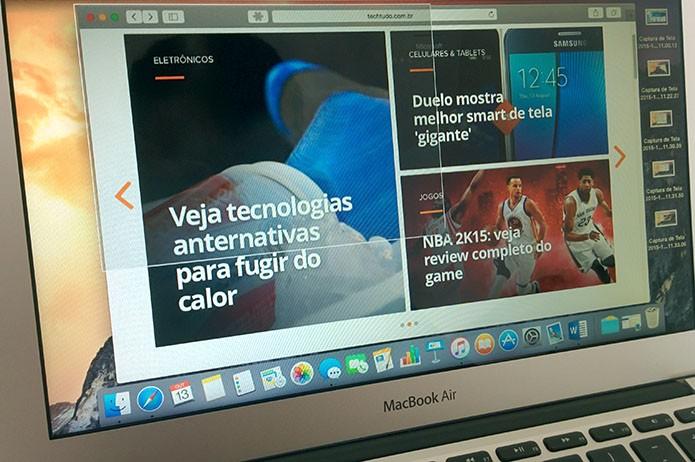 Capture a tela inteira ou uma área qualquer com comandos no teclado (Foto: Paulo Alves/TechTudo)