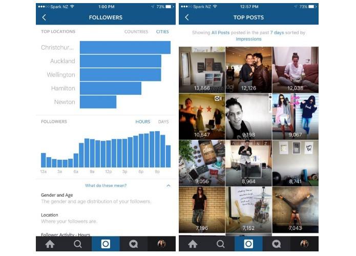 Os dados estatísticos do Instagram ainda não têm uma data para serem liberados (Reprodução/Later)