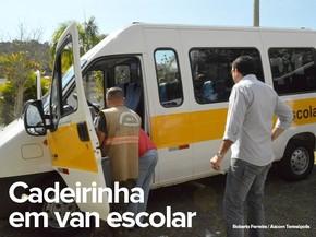 Cadeirinhas serão obrigatórias em vans a partir de 2016, mas fiscalização só começa em 2017 (Foto: Roberto Ferreira/Ascom Teresópolis)