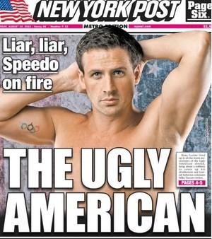 Jornal New York Post critica Ryan Lochte em manchete (Foto: Reprodução / New York Post)