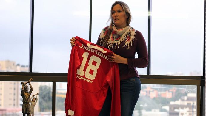 Fernanda Costa, esposa de Fernandão (Foto: Diego Guichard)