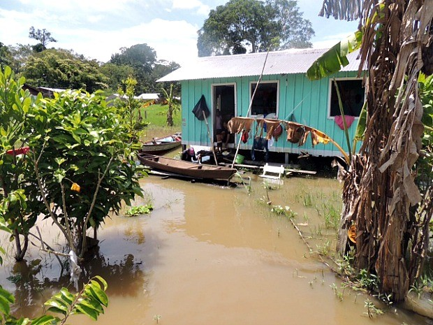 Cheia em Santo Antônio do Içá, 15º a decretar emergência (Foto: Defesa Civil/Divulgação)
