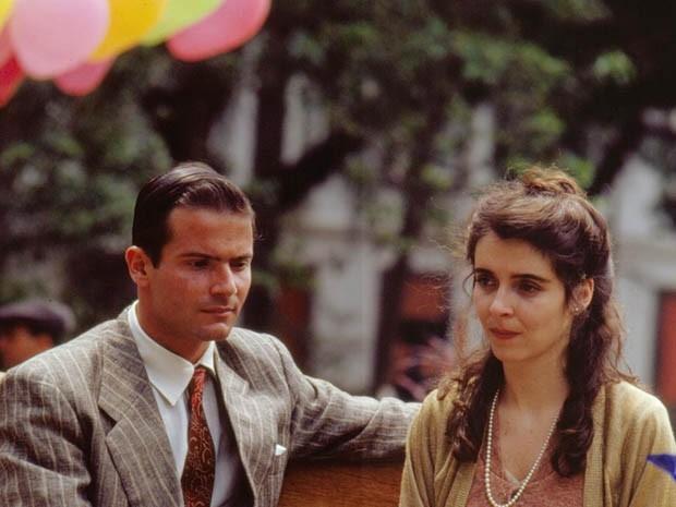 Lauro Corona e Deborah Evelyn na novela Vida Nova