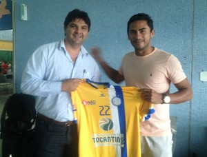 Patrick é o novo reforço do Interporto (Foto: Edson Reis/GloboEsporte.com)