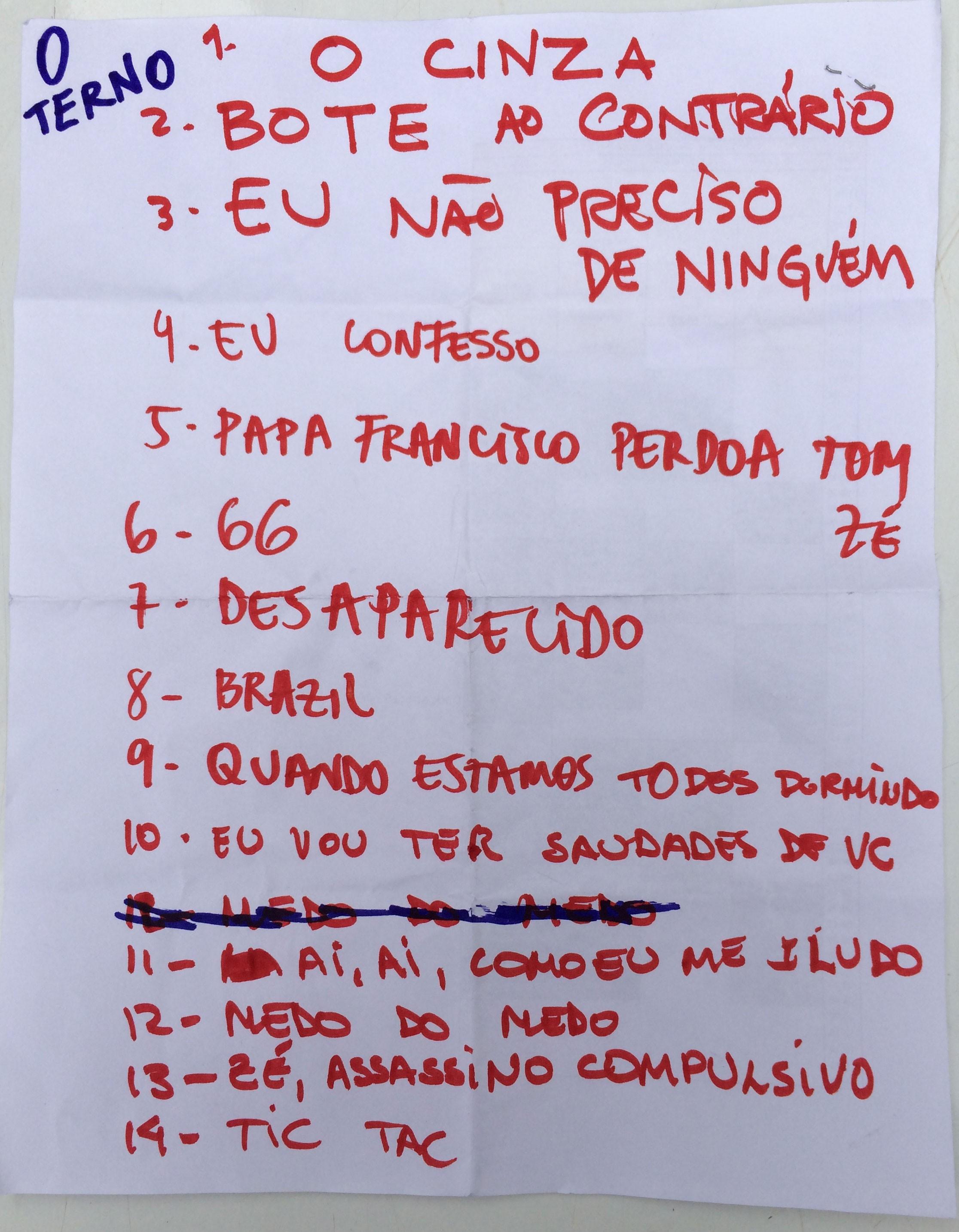 Setlist: O Terno no Lollapalooza Brasil 2015 (Foto: Multishow)