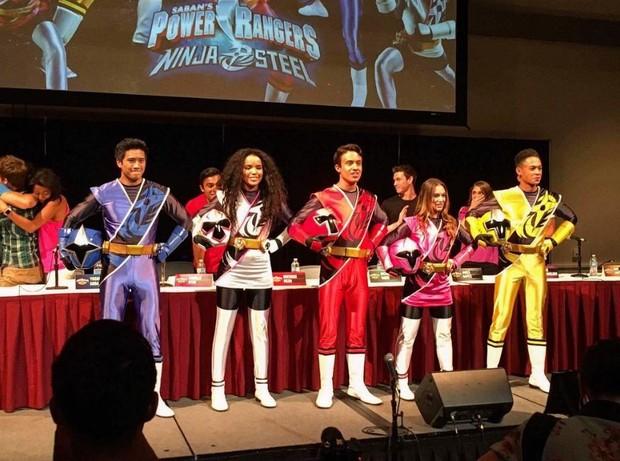 Elenco de Ninja Steel, a nova temporada de Power Rangers (Foto: Reprodução/Instagram)