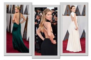 Vestidos que deixam as costas à mostra roubam a cena