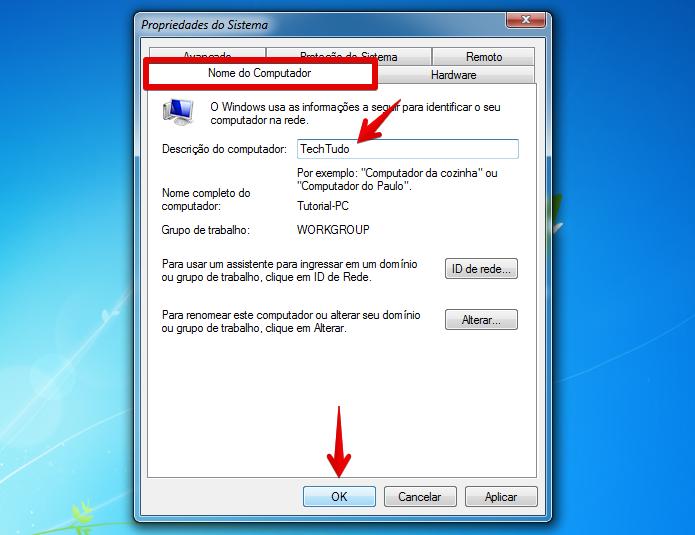 Mudando o nome do computador (Foto: Reprodução/Helito Bijora)  (Foto: Mudando o nome do computador (Foto: Reprodução/Helito Bijora) )