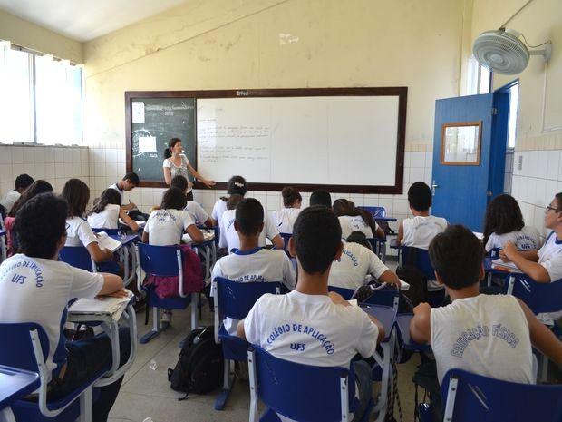 Colégio de Aplicação da Universidade Federal de Sergipe  (Foto: Marina Fontenele/G1 SE)