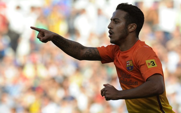 thiago alcantara barcelona x zaragoza (Foto: AFP)