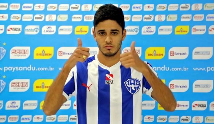 Léo Melo com a camisa do Paysandu (Foto: Divulgação/Paysandu)