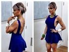 Juju Salimeni usa vestido decotado nas costas e curtinho