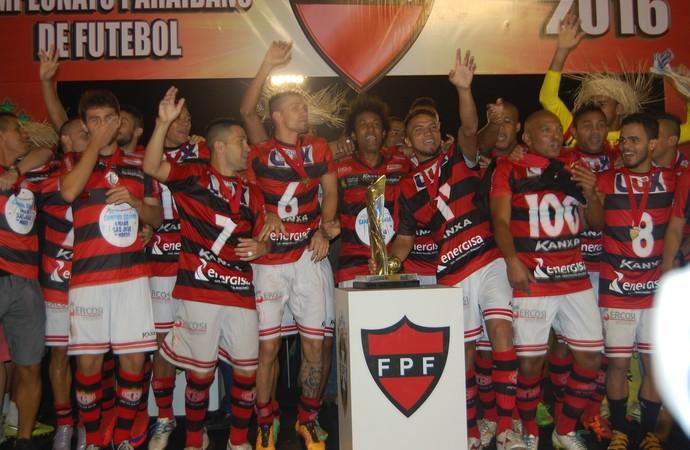 campinense, campeonato paraibano, campeão (Foto: Silas Batista / GloboEsporte.com/pb)