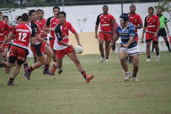 Lance da partida entre Spac e Jacareí pelo Campeonato Paulista de Rugby M18 (Foto: Portal do Rugby)