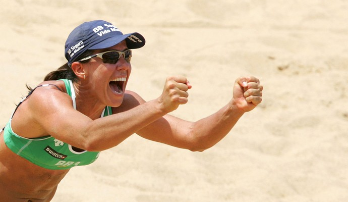 Sandra Pires vôlei de praia (Foto: Silvio Ávila / CBV)
