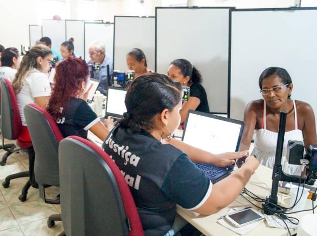 Eleitores de Marituba poderão fazer cadastramento biométrico e recadastramento de título eleitoral também aos sábados. (Foto: Divulgação/assessoria TRE-PA)